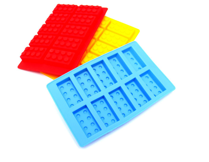 3 x bpa free silicone lego mould trays for Ice block construction