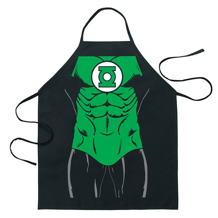 Cartoon Comic Kitchen Cooking Apron (Green Lantern)