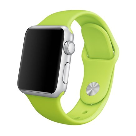 Soft Silicone Sport Style Replacement iWatch Strap Band for Apple Wrist Smart Watch (Green/38mm)