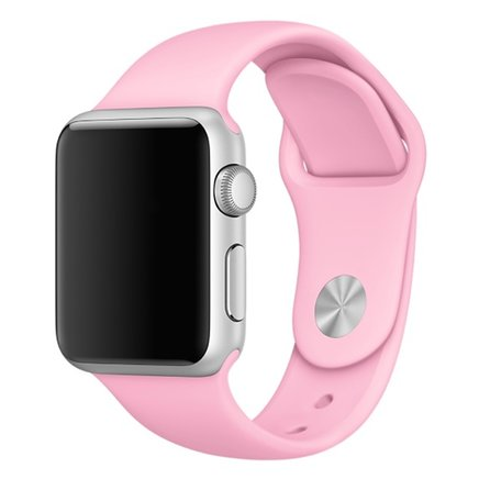 Soft Silicone Sport Style Replacement iWatch Strap Band for Apple Wrist Smart Watch (Pink/38mm)