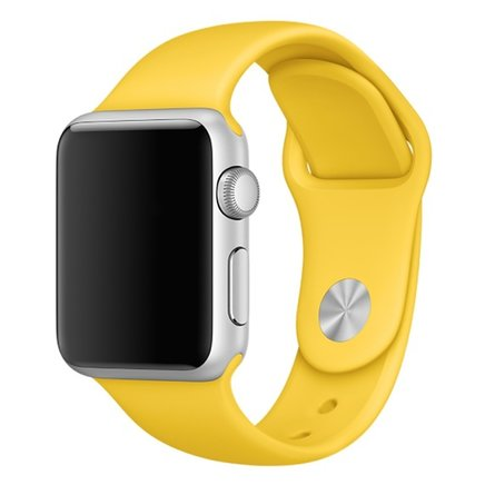 Soft Silicone Sport Style Replacement iWatch Strap Band for Apple Wrist Smart Watch (Yellow/42mm)
