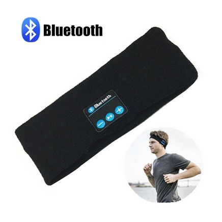 Black Bluetooth Music Headband Stereo Sleep Sport Running Yoga Headset