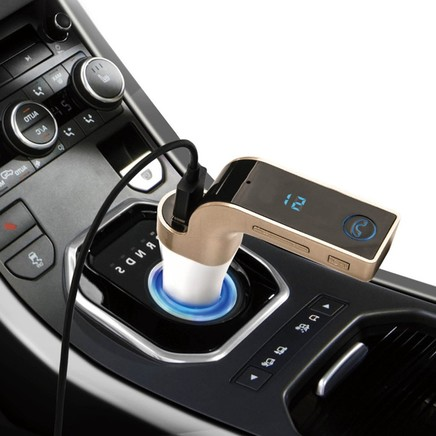 G7 Car Bluetooth FM Transmitter Wireless Handsfree Car Kit With TF SD Music Player and 5V USB Charger AUX for all car