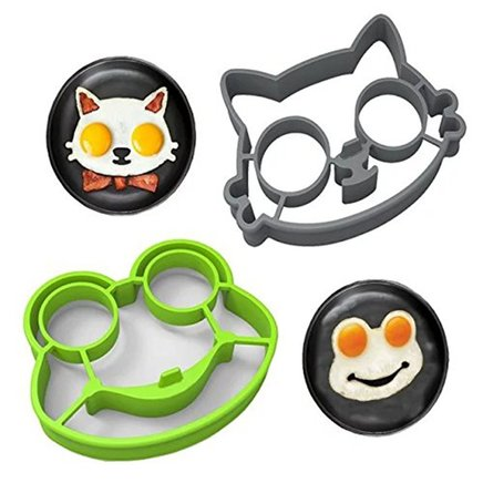 Non Stick Silicone Fried Egg Molds (Cat & Frog)