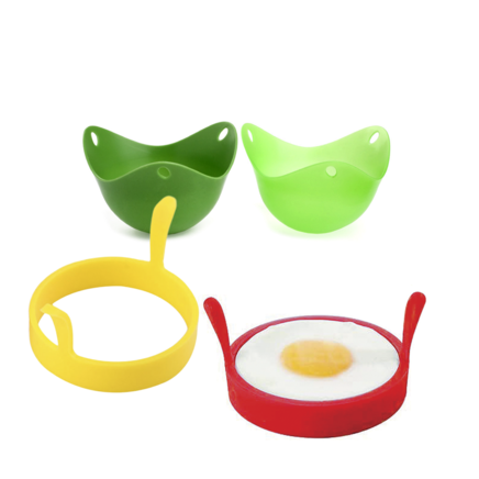 Egg Poachers and Fried Egg Silicone Rings Egg Making Kit