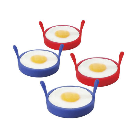 4 x Perfect Circle Fried Egg Silicone Rings
