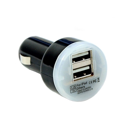 2XGO Dual USB Car Charger for iPhones, iPads, Androids, and Tablets