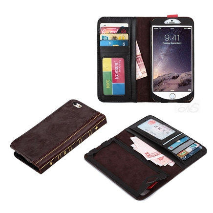 Vintage Style Classic Leather Booky Book Cover Case for iPhone 6