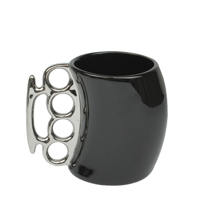 Novelty Knuckle-Duster Coffee Mug