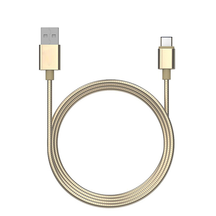 1m USB Type C - Flexible Stainless Steel - Data & Sync Charger Cable -Compatible with Type C Samsung  Apple Macbook Pixel Nexus and more (Black)