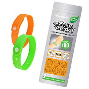 Mosrepel Twin-pack of 180hr Natural Mosquito Repellent Bracelets