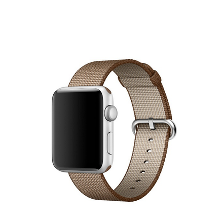 Apple Watch Strap Replacement Handmade 38mm Coffe Woven Nylon Band