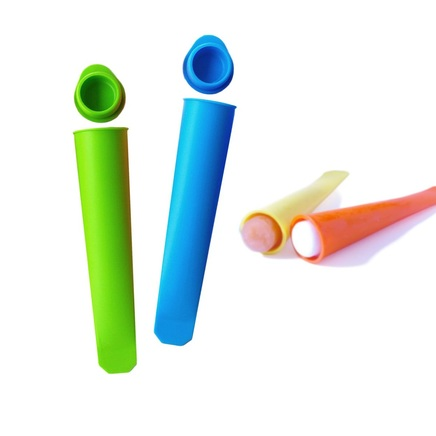 2 x Silicone Summer Ice Pop Moulds