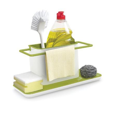 Green Kitchen Washing Holder Brush Sponge Sink Drain Towel Rack Kitchen Tidy