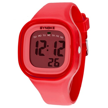 Jelly Diving & Swimming Waterproof Digital Watches Wrist Sports with Alarm Chronograph Long lasting battery Calendar Noctilucent (Red)