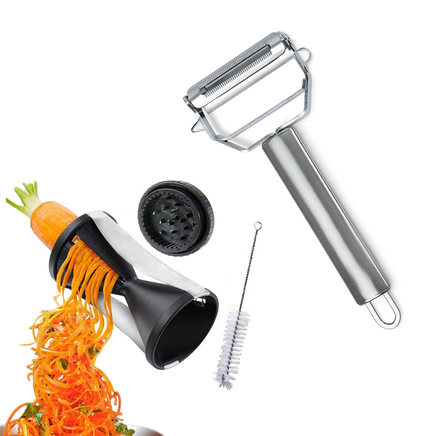 Ultimate Prep Chef Peeler, Garnish, Grater Pack With Cleaner