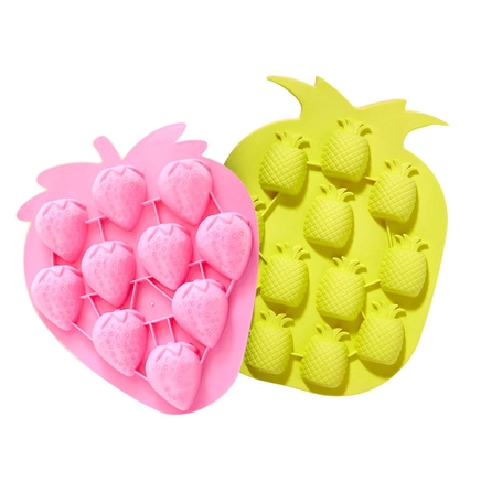 Strawberry & Pineapple Silicone Mould Tray Set