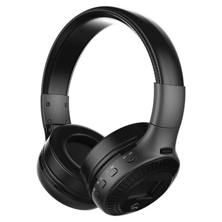 B-19 Wireless Over The Ear Bluetooth Headphone - Foldable Design with in-built Handsfree Mic (Black)