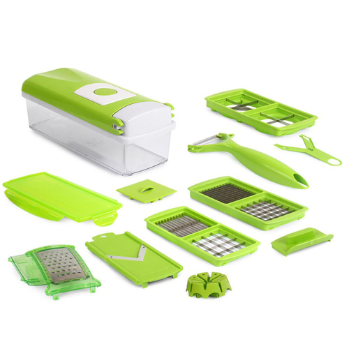 12 in 1 Kitchen Vegetable Slicer and Dicer Smart Gadget Food Chopper Cutter Peeler